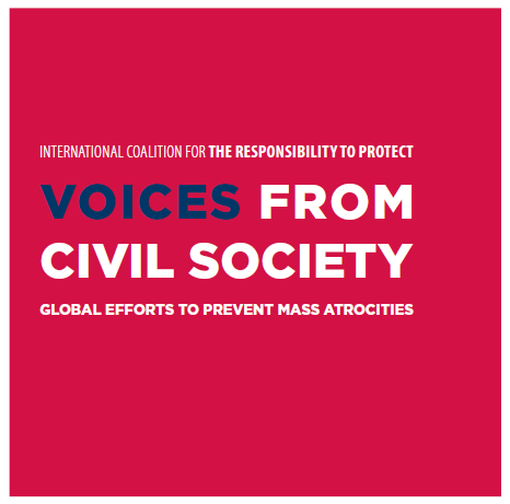 Voices from civil society Neue Publikation zur Schutzverantwortung: Voices from Civil Society