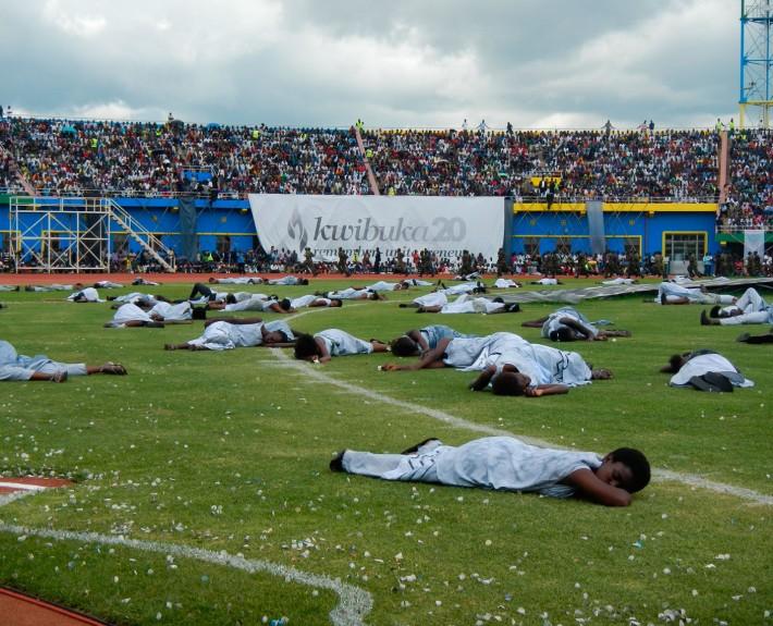 Völkermord-Gedenkzeremonie im  im Amahoro-Stadion in der ruandischen Hauptstadt Kigali, April 2014