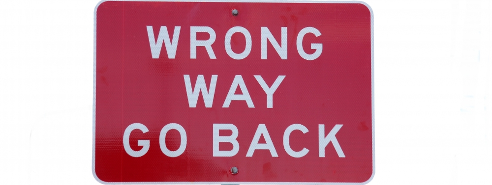 Wrong way go back 1