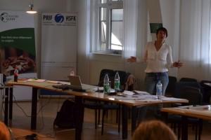 Dr. Eva Ottendörfer in Frankfurt zur strafrechtlichen Aufarbeitung und Versöhnung nach Massenverbrechen; Quelle: Genocide Alert