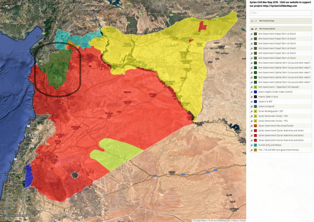 Syrien Karte Aktuell 2018.Idlib Humanitare Katastrophe Aufgeschoben Nicht