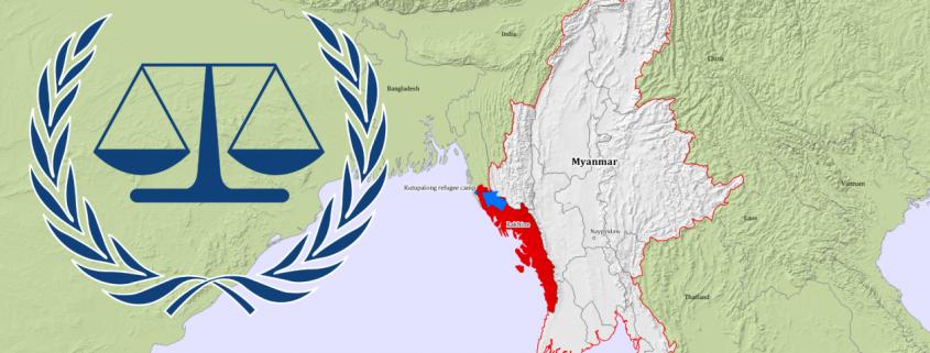 Karte von Myanmar / Rhakine State